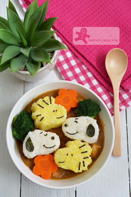 snoopy woodstock bento rice