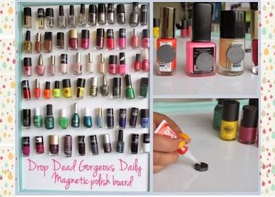 Como organizar tu coleccion de esmaltes de uñas