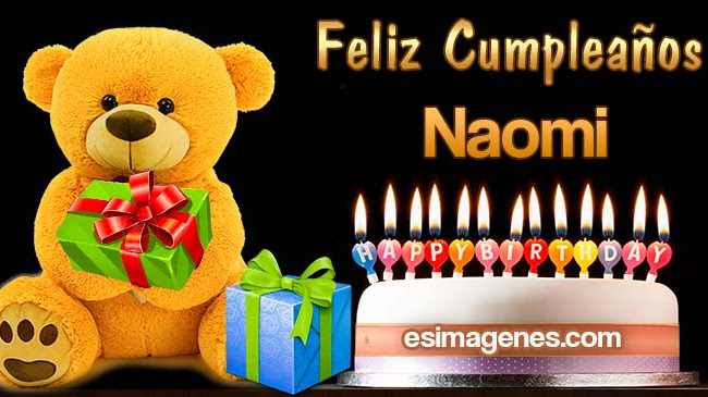 Feliz cumpleaños Naomi