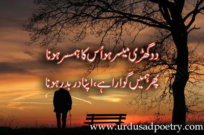 Do Ghardy Moyesr Ho Us Ka Humsafar Hona