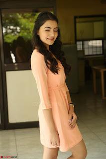 Rukshar Mir in a Peachy Deep Neck Short Dress 122.JPG