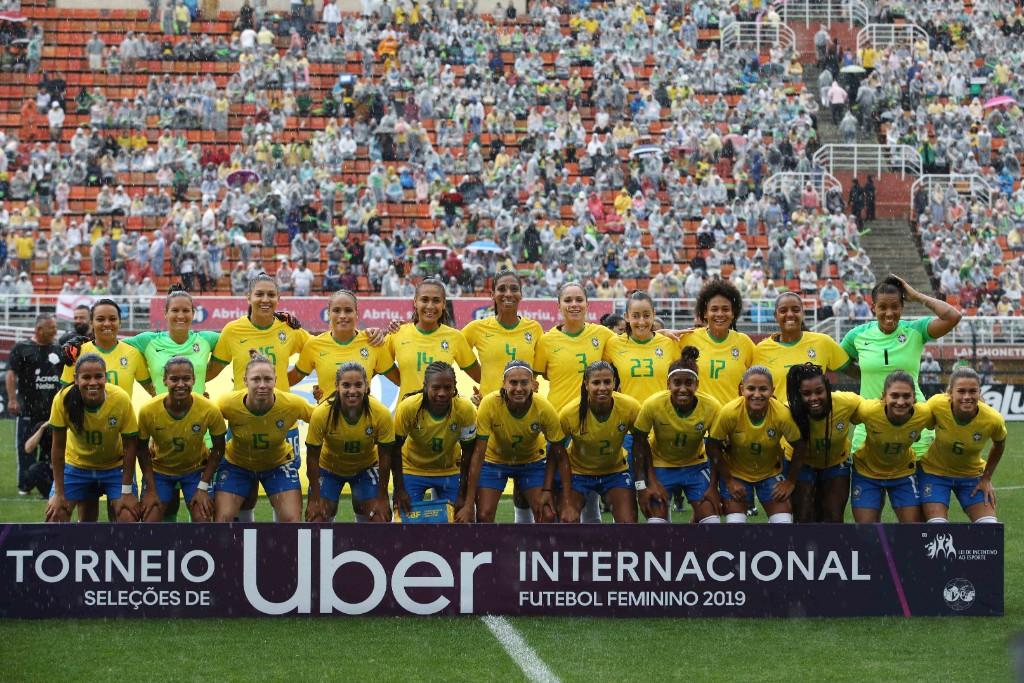 Formación de selección femenina de Brasil ante Chile, Torneio Uber Internacional de Futebol Feminino de Seleções, 1 de septiembre de 2019