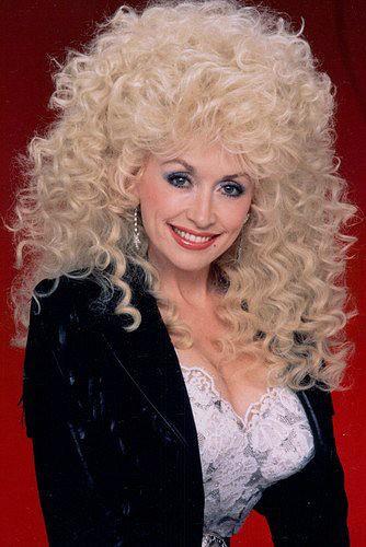 Dolly Parton 80s spiral perm