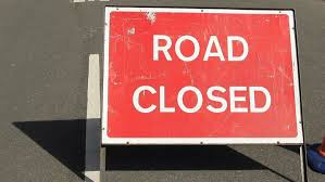 Road Closure Streeet Sign