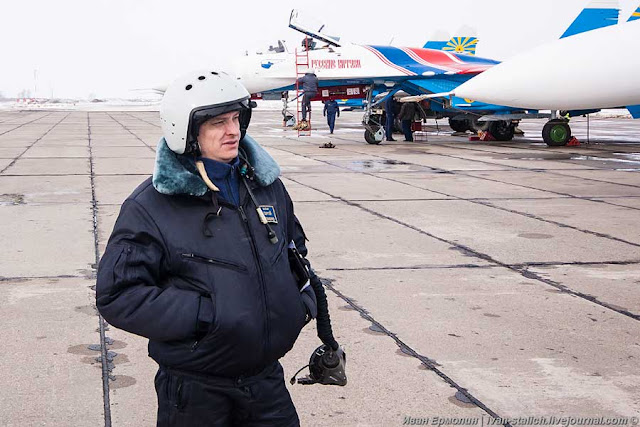 Лётчик майор Сергей Еременко. Фото: Иван Ермолин.