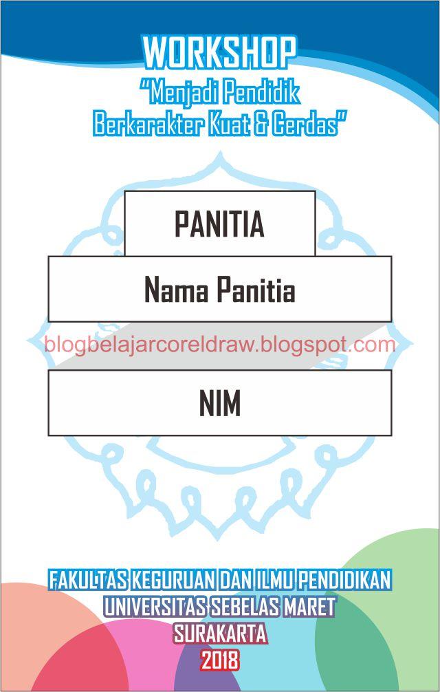 Template Name Tag Panitia : template, panitia, Download, Template, PANITIA, Format, Vector, CorelDRAW