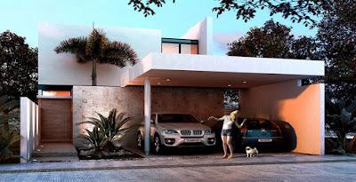 Casa Modelo en Privada Residencial Arborettos-Modelo Álamo fachada