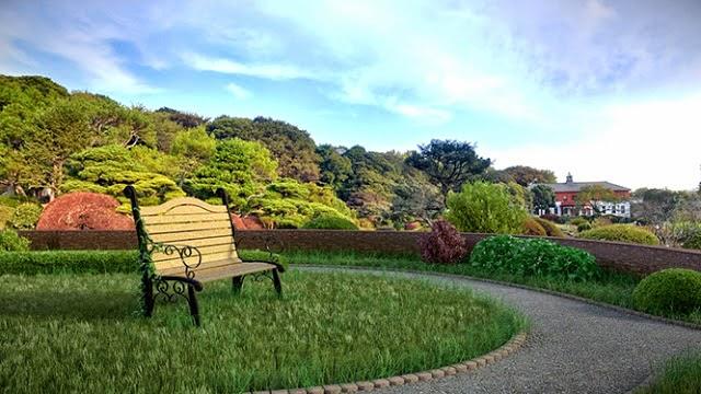 Jardín desarrollado en blender