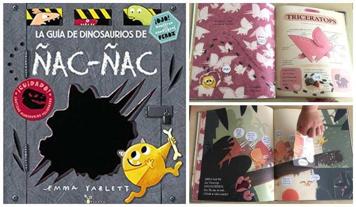 libro informativo y cuento. la guía de dinosauiros de ñac-ñac