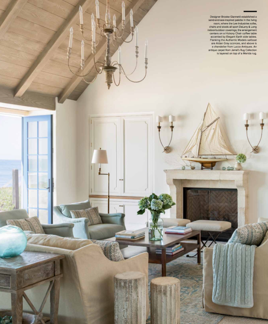 Breathtaking French Country modern farmhouse living room by Giannetti Home - found on Hello Lovely Studio