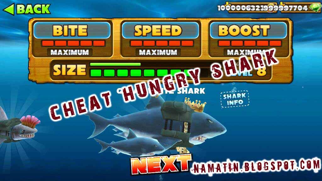 Cheats android hungry shark