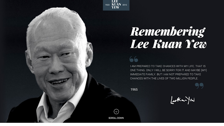 Remembering Lee Kuan Yew - Thank you - The nation with you in your final journey - See u in heaven
