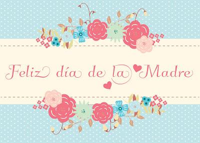 tarjeta imagen dia de la madre flores
