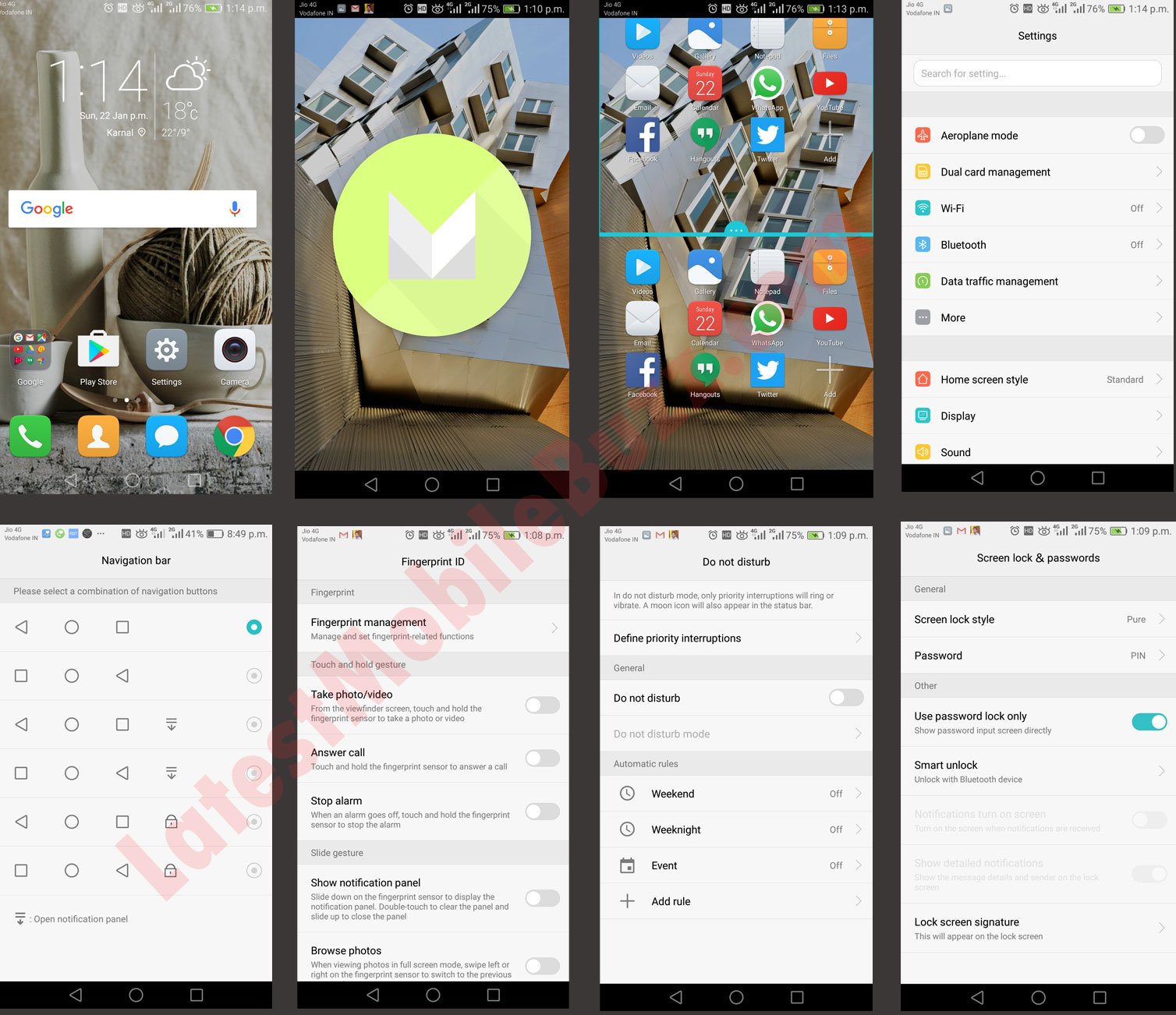Honor 6x Software UI