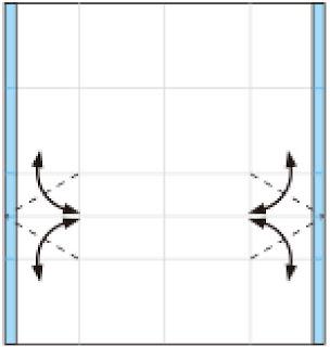 Bước 5: Gấp tạo nét gấp