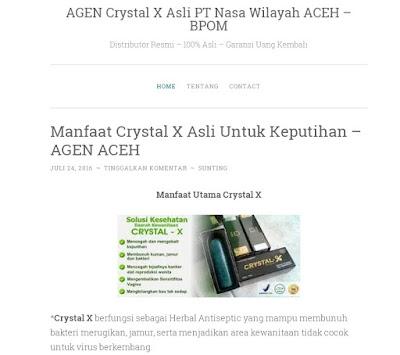 Penjual Natural Crystal X Wilayah Aceh