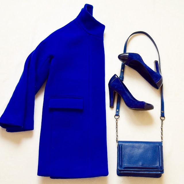 J. Crew cobalt coat