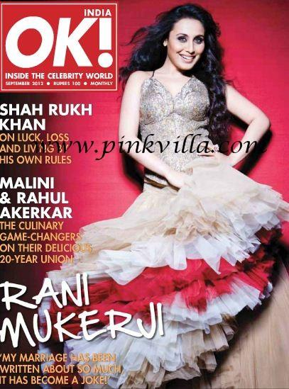 Rani Mukherji Featured On The Cover Page Of OK! India September 2012