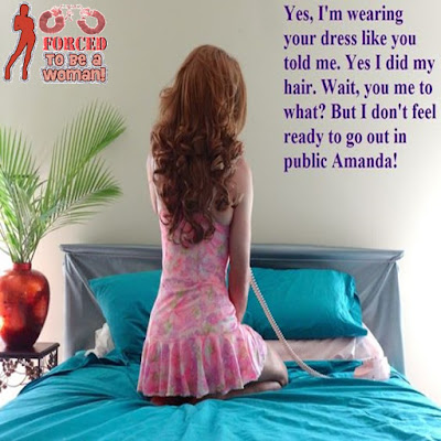 I am not ready to go out in public Sissy TG Caption - Hard TG Caps - Crossdressing and Sissy Tales and Captioned images