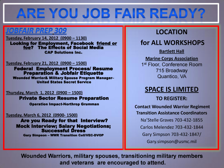 Military-Civilian: Hot Jobs, Events, and Helpful Information