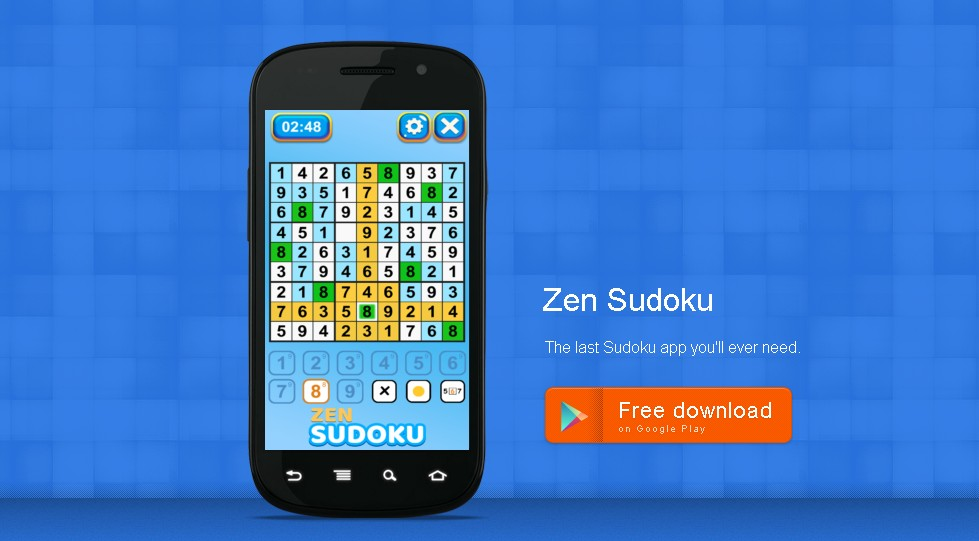HIGHTECHHOLIC: Puzzle Game of the Week - Zen Sudoku Game 9x9 Puzzles