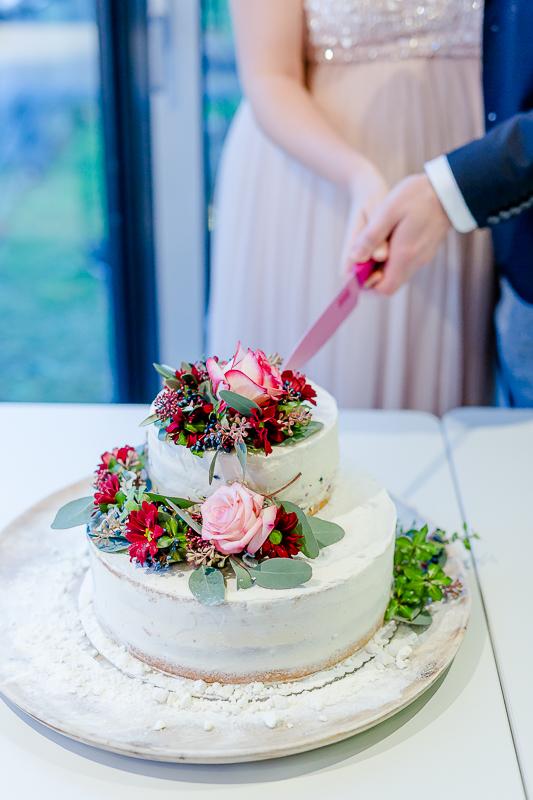 Romantische Winterhochzeit im Dezember, Pomponetti, Hochzeitstorte