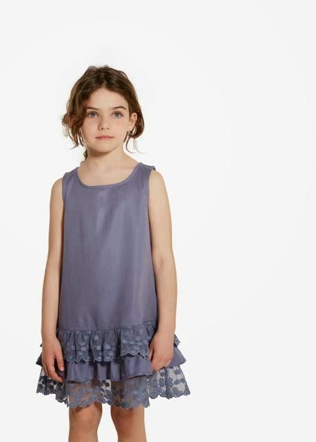90e8d613f4715 Neler yok ki Mango 2015 kız çocuk koleksiyonunda; dantelli koton elbiseler,  tül etekli elbise modelleri, çizgili elbiseler, nakışlı elbiseler,  fırfırlılar, ...