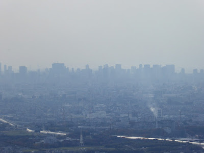 交野山 頂上からの眺め 大阪市内の超高層ビル群