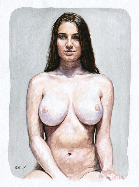 René Bui - Etude de nu à l'aquarelle #160173