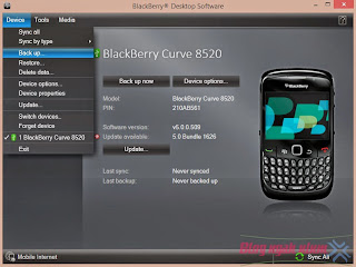 cara backup file memory blackberry ke laptop komputer