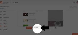 Tap edit html template blog