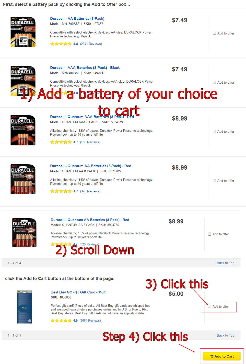 Glitch* Best Buy: 8-Pack Duracell Batteries $2.49 After $5 Gift ...