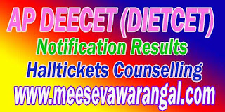 AP Deecet 2016 Hall ticket Download (Dietcet )