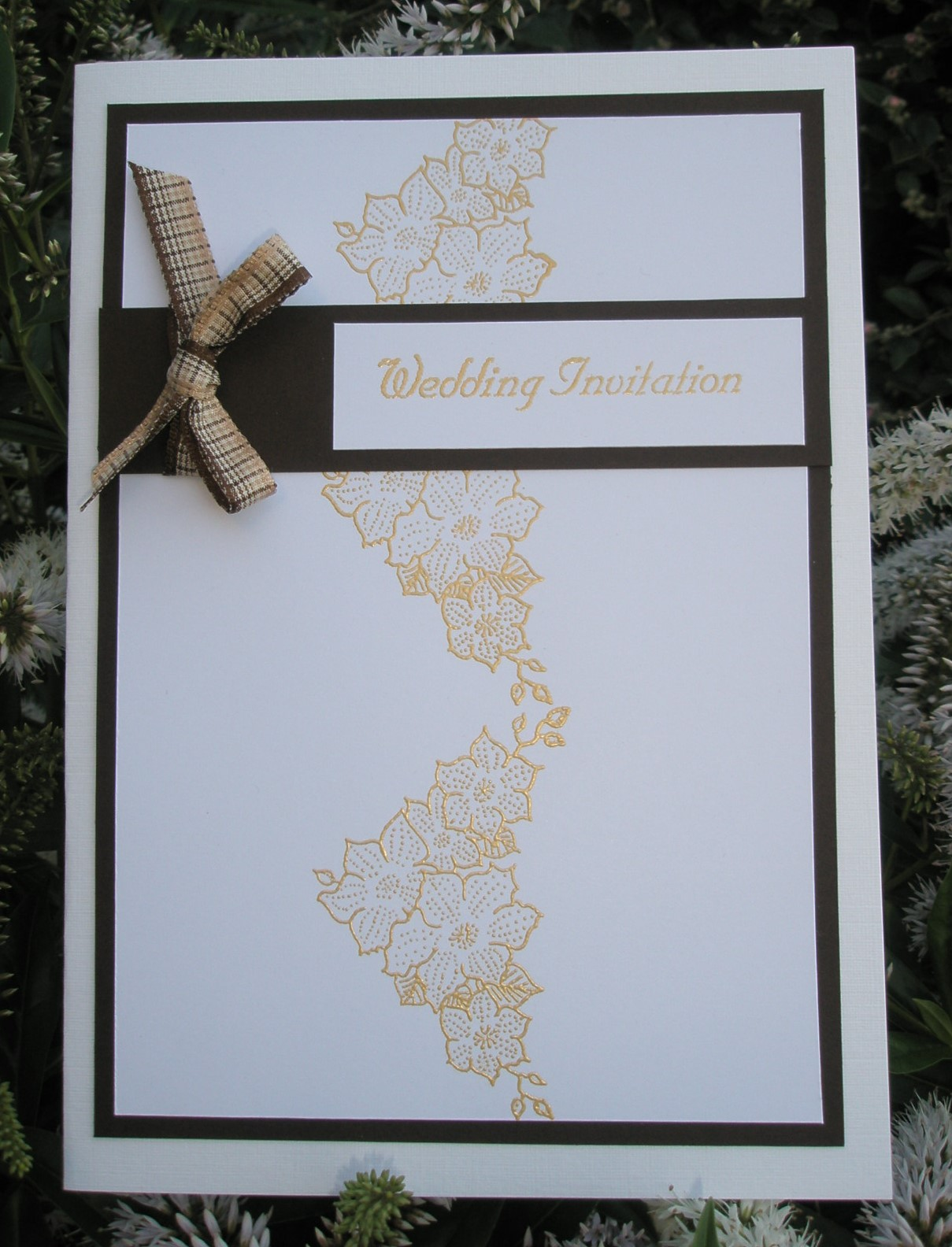 Oak House Studio Make Your Own Wedding Invitations Using The Clematis Corner