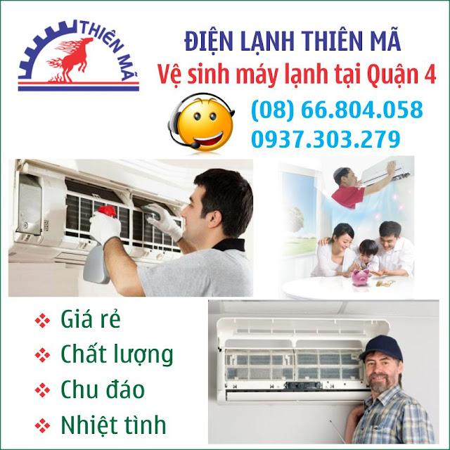 Dịch vụ vệ sinh máy lạnh uy tín tại quận 4