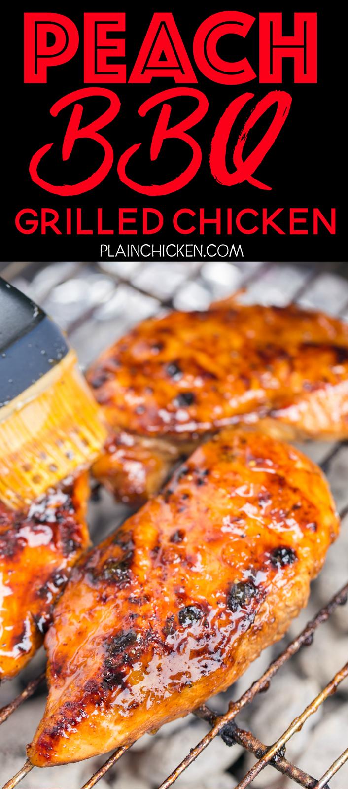 Peach BBQ Grilled Chicken | Plain Chicken