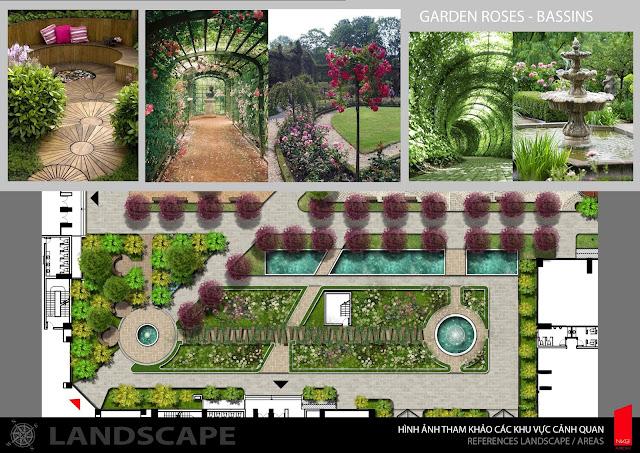 Khuôn viên vườn hoa dự án Iris Garden Mỹ Đình