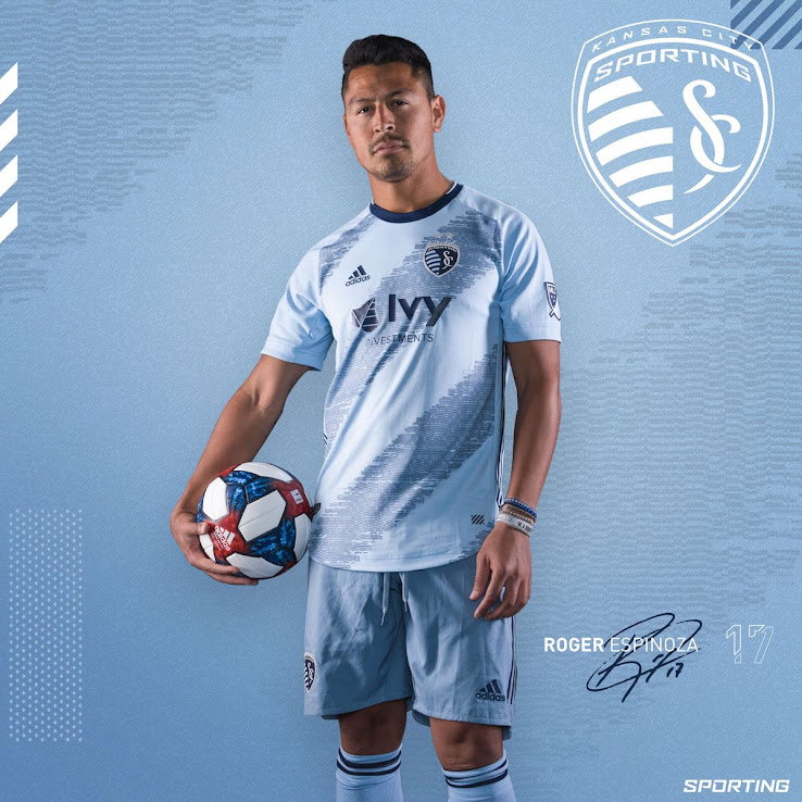 promo code 13d9c 363bf Sporting KC 2019 Home Kit Released - Footy Headlines