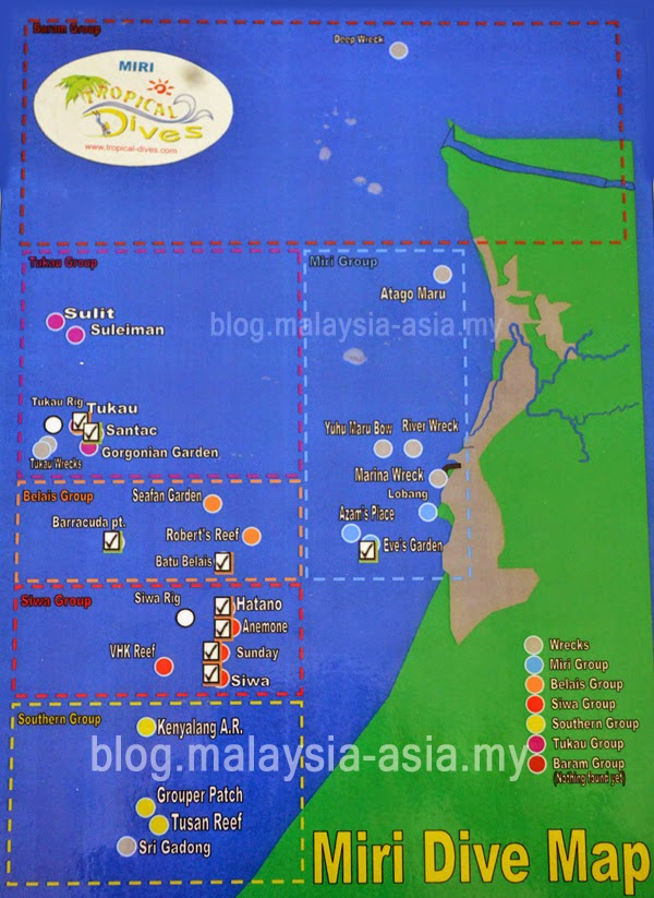 Dive Sites for Miri