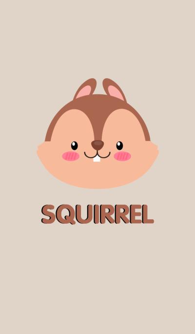 Simple Cute Face Squirrel Theme(jp)