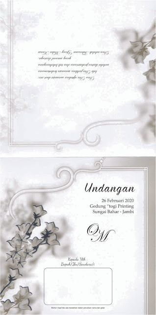 Download Desain Undangan Pernikahan Minimalis ERBA 8879 versi CorelDRAW