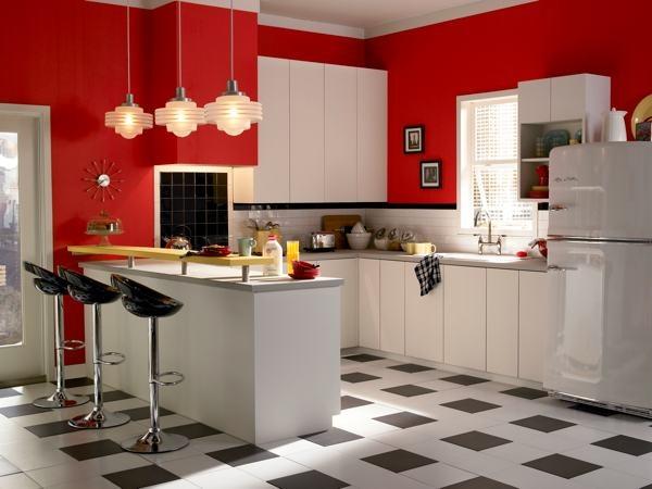 keramik dinding dapur warna merah