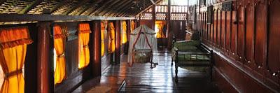 Salah satu ruang tengah pada Rumah Adat Aceh (Krong Bade)