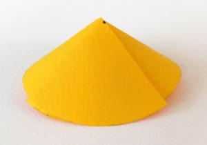κώνος από χαρτί, γεωμετρικά σχήματα από χαρτί