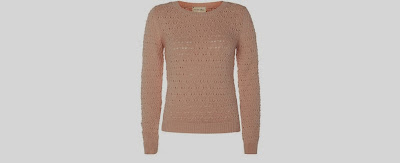 New Look Shell Pink Lace Back Knitted Jumper
