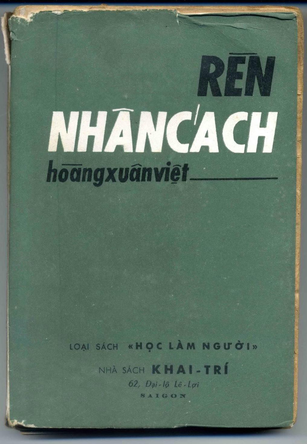 Rèn nhân cách - Hoàng Xuân Việt