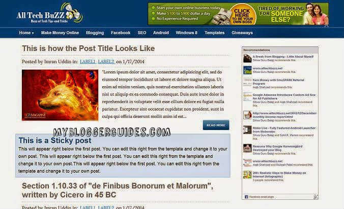 ATB Blogger Template, Best SEO Optimized Blogger Template, AdSense Friendly Blogger Template