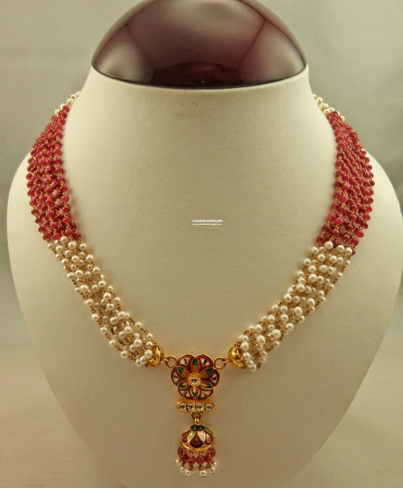 Gibraltar Pearl Ruby Wedding Bridal Fashion Jewelry 29