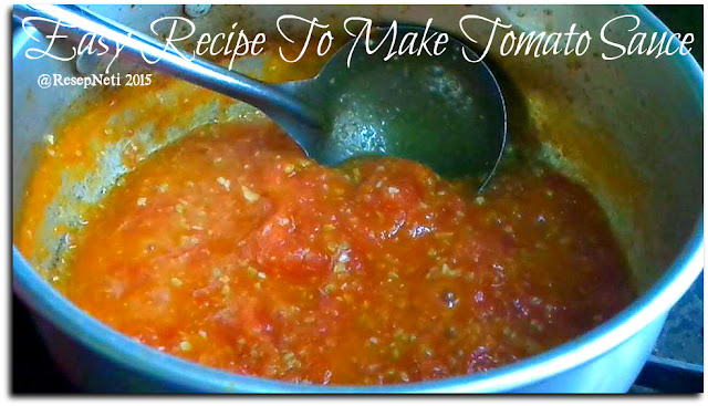 Easy recipe tomato sauce at kusNeti kitchen 2015