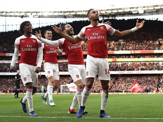 Iwobi Caps Arsenal Victory With A Goal As Aubameyang Scores Brace To Defeat Burnley